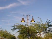 Luces de la acera del parque Imagen de archivo libre de regalías