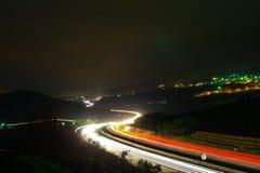 Luces de la autopista/de la carretera fotos de archivo