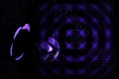 Luces de la bola de discoteca y del disco Fotografía de archivo
