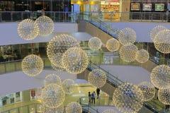 Luces de la bola de la alameda del SM Imagen de archivo libre de regalías