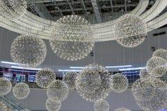 Luces de la bola de la alameda del SM Fotos de archivo libres de regalías