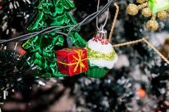 Luces de la caja de regalo adornadas Imagen de archivo libre de regalías