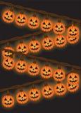 Luces de la calabaza Imagen de archivo