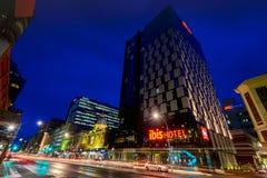 Luces de la ciudad de Adelaide Foto de archivo libre de regalías