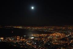 Luces de la ciudad de Ciudad del Cabo Foto de archivo libre de regalías