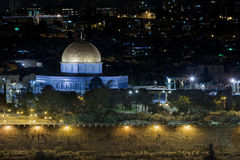 Luces de la ciudad de Jerusalén - Israel viejos Fotos de archivo libres de regalías