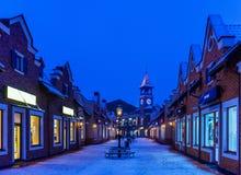 Luces de la ciudad de la Navidad Imágenes de archivo libres de regalías