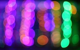 Luces de la ciudad de la noche Fotografía de archivo