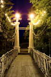 Luces de la ciudad de la noche Imagen de archivo libre de regalías