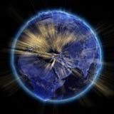 Luces de la ciudad de la tierra del planeta stock de ilustración
