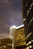 Luces de la ciudad de Philadelphia Imágenes de archivo libres de regalías