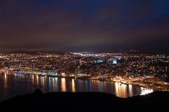 Luces de la ciudad de San Juan Fotografía de archivo