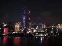 Luces de la ciudad de Shangai Imagenes de archivo