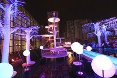Luces de la ciudad de Shatin en 2016 Fotos de archivo libres de regalías