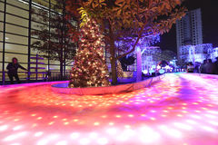 Luces de la ciudad de Shatin en 2016 Fotografía de archivo