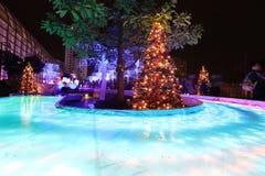 Luces de la ciudad de Shatin en 2016 Imágenes de archivo libres de regalías
