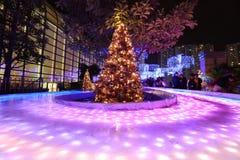 Luces de la ciudad de Shatin en 2016 Imagen de archivo libre de regalías