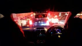 Luces de la ciudad del tráfico de coche Fotos de archivo