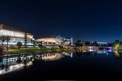 Luces de la ciudad en Adelaide fotografía de archivo