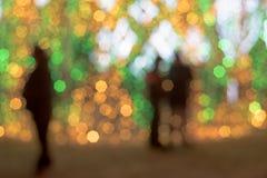 Luces de la ciudad en el fondo que empaña de la tarde imágenes de archivo libres de regalías