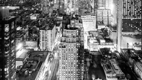Luces de la ciudad en la noche Imágenes de archivo libres de regalías
