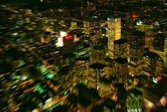 Luces de la ciudad grande fotografía de archivo