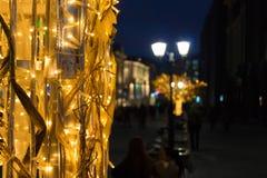 Luces de la ciudad de la noche Fotos de archivo