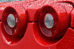 Luces de la cola de un Sportscar europeo Fotografía de archivo libre de regalías