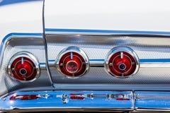Luces de la cola y de Chrome Bumber del automóvil del vintage Foto de archivo libre de regalías