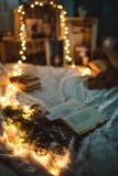 Luces de la decoración de la Navidad Fotografía de archivo libre de regalías