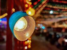 Luces de la decoración durante festival fotos de archivo libres de regalías