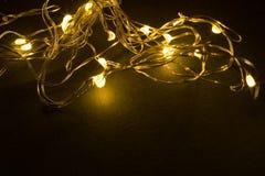 Luces de la decoración de la Navidad Imágenes de archivo libres de regalías