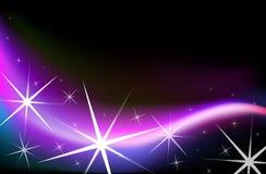 Luces de la estrella stock de ilustración