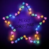 Luces de la estrella de la Navidad Fotografía de archivo libre de regalías