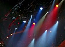 Luces de la etapa Foto de archivo libre de regalías