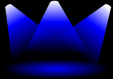 Luces de la etapa ilustración del vector