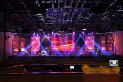 Luces de la etapa del concierto Fotos de archivo libres de regalías
