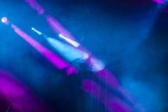 Luces de la etapa del punto Foto de archivo
