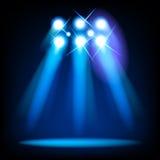 Luces de la etapa del vector Imagen de archivo libre de regalías