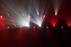 Luces de la etapa en concierto Imagen de archivo libre de regalías