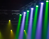 Luces de la etapa en concierto Imagen de archivo