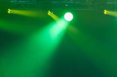 Luces de la etapa en concierto Fotografía de archivo libre de regalías