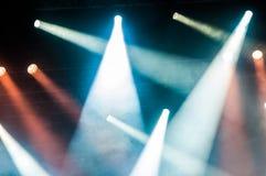 Luces de la etapa en concierto Foto de archivo