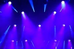 Luces de la etapa en el concierto Imagen de archivo