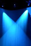 Luces de la etapa en la cortina Fotos de archivo libres de regalías