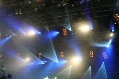 Luces de la etapa. En la demostración Imagen de archivo libre de regalías