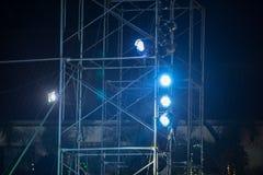 Luces de la etapa en una consola Fotografía de archivo libre de regalías