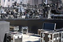 Luces de la etapa en una consola Fotos de archivo