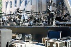Luces de la etapa en una consola Imagen de archivo