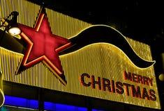 Luces de la Feliz Navidad Fotos de archivo libres de regalías